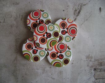 Vintage style wooden buttons