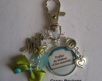 "Keychain / bag charm ""Enjoy being together"""