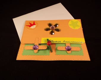 """Satchel"" kids birthday card and matching envelope"