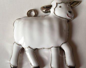 sheep white enamel (model gd)