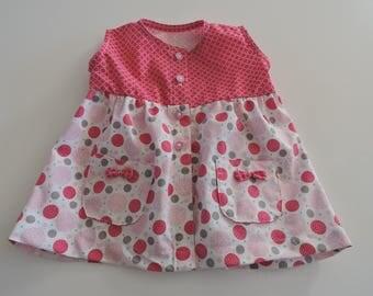 Baby sleeveless cotton dress