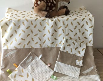 whole blanket and baby collection feathers