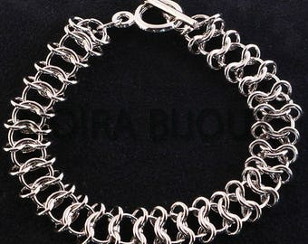 x1support infinity link bracelet silver toggle long 19.5 cm