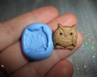 Pretty OWL 1.5 cm by 1.5 cm for molding polymer clay mold