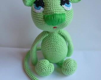 Stuffed amigurumi cotton toy mouse Vick