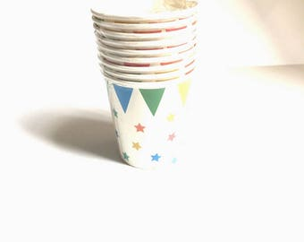 Birthday cups or party table decoration