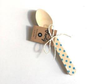 Polka dot wooden spoons
