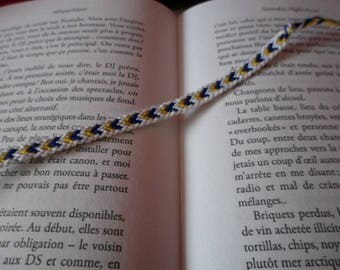 Navy Blue and yellow Friendship Bracelet with border