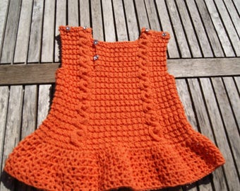 dress or tunic 3 to 6 months orange
