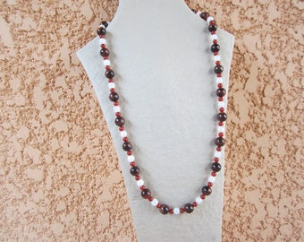 Necklace consisted of stones of carnelian, Tiger eye and rock crystal