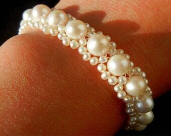 Fresh water cultured pearl bracelet 6.5 - 7 mm AA +.