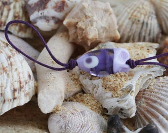 little purple murano glass fish