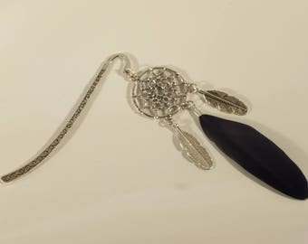 Bookmark black feather Dreamcatcher