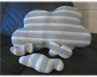 Large cloud pillow and 3 small