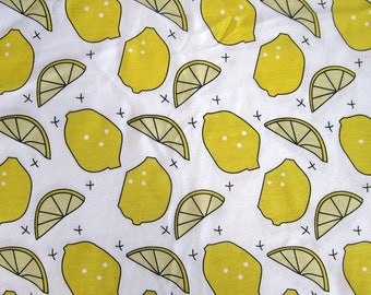 "White cotton JERSEY ""Lemon""."