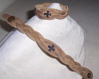 """Medieval type"" braided leather bracelet"