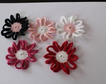FLOWERS in cotton crochet