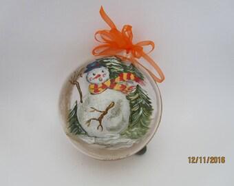 Christmas ball made of plastic acrylic