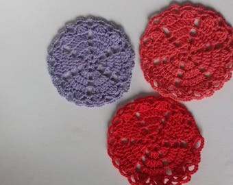 vintage multicolor crochet doily