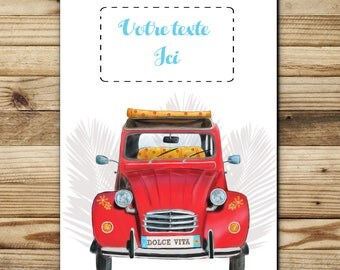 """greeting card customizable """"free text"""" FSC paper, made in Provence, France"""