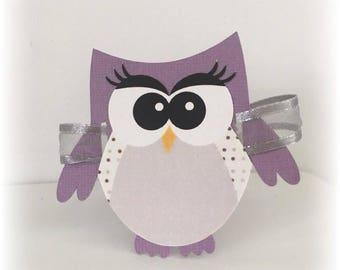 10 place-nice shape - owls mam' Missy bou + Ribbon