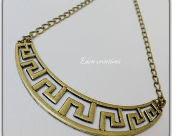 Vintage bronze neck Choker bib necklace