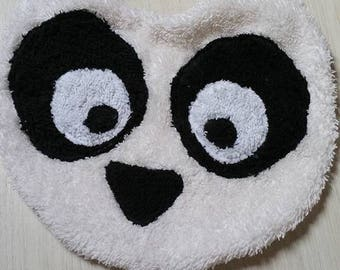 Original panda pattern Terry cloth bib