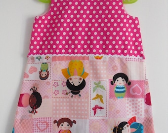 Pretty 3/4 years pinafore dress!