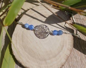 Bracelet charm and gemstones