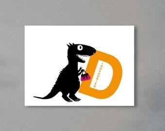 Alphabet Letter D-the alphabet of the animals