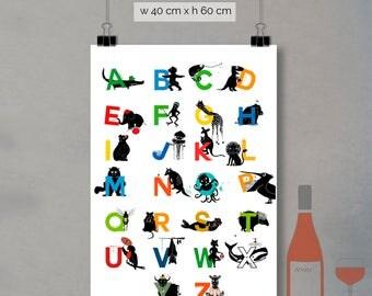 print - alphabet letters (40 x 60cm)