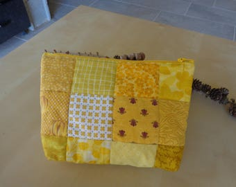 Yellow squares patchwork bag