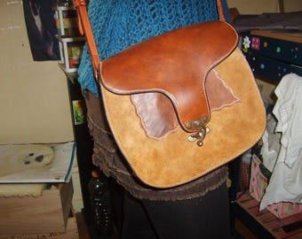 "Handmade sewing pattern ""saddle"" unique handmade leather bag"