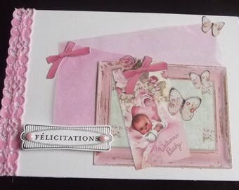 Baby girl card.