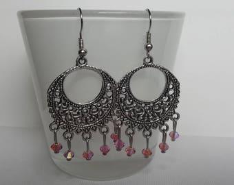 Swarovski pink stud earrings.