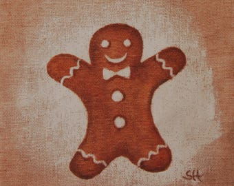 Coupon design fabric gingerbread for holiday textile design