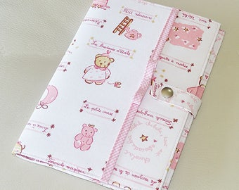 Hard cover to my health - pink and white