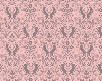 Spring Hare Pink- Lewis & Irene  Quilting Cotton