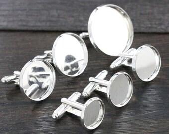 18 mm / 2 buttons 18 mm cabochon cufflinks