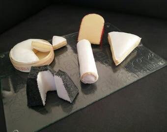 5 felt cheese plate
