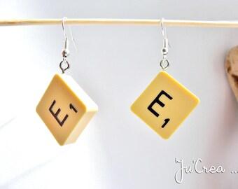 Scrabble letter earring