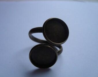 Spiral ring 12mm cabochon