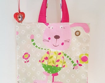 "The ""Maisy"" kids tote bag pink animals"