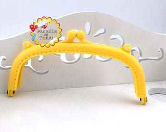 1 x door clasp wallet resin yellow 15cm K395