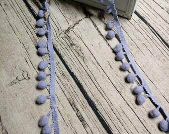 2 x m ribbons/trims 24 light blue tassels