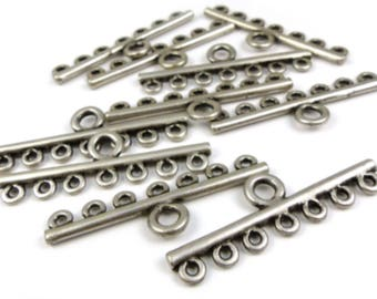 12 x Multi-strands silvered connectors - 4mm