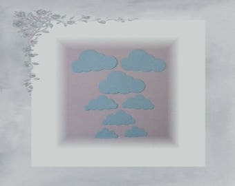 LPPO-0007 - cut paper 220gr - blue clouds