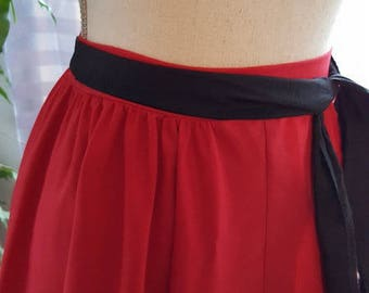 Red SKIRT. HAND MADE