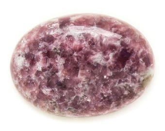 N12 - Cabochon stone - purple pink Lepidolite oval 34x24mm - 8741140018020