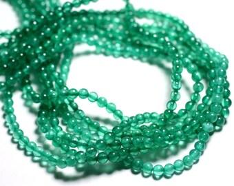 30pc - jade stone - balls 4mm Green Emerald Mint - 4558550085580